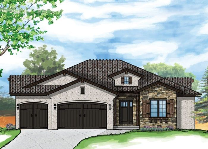 House the edwards model plan also offers grand yet compact ranch style living