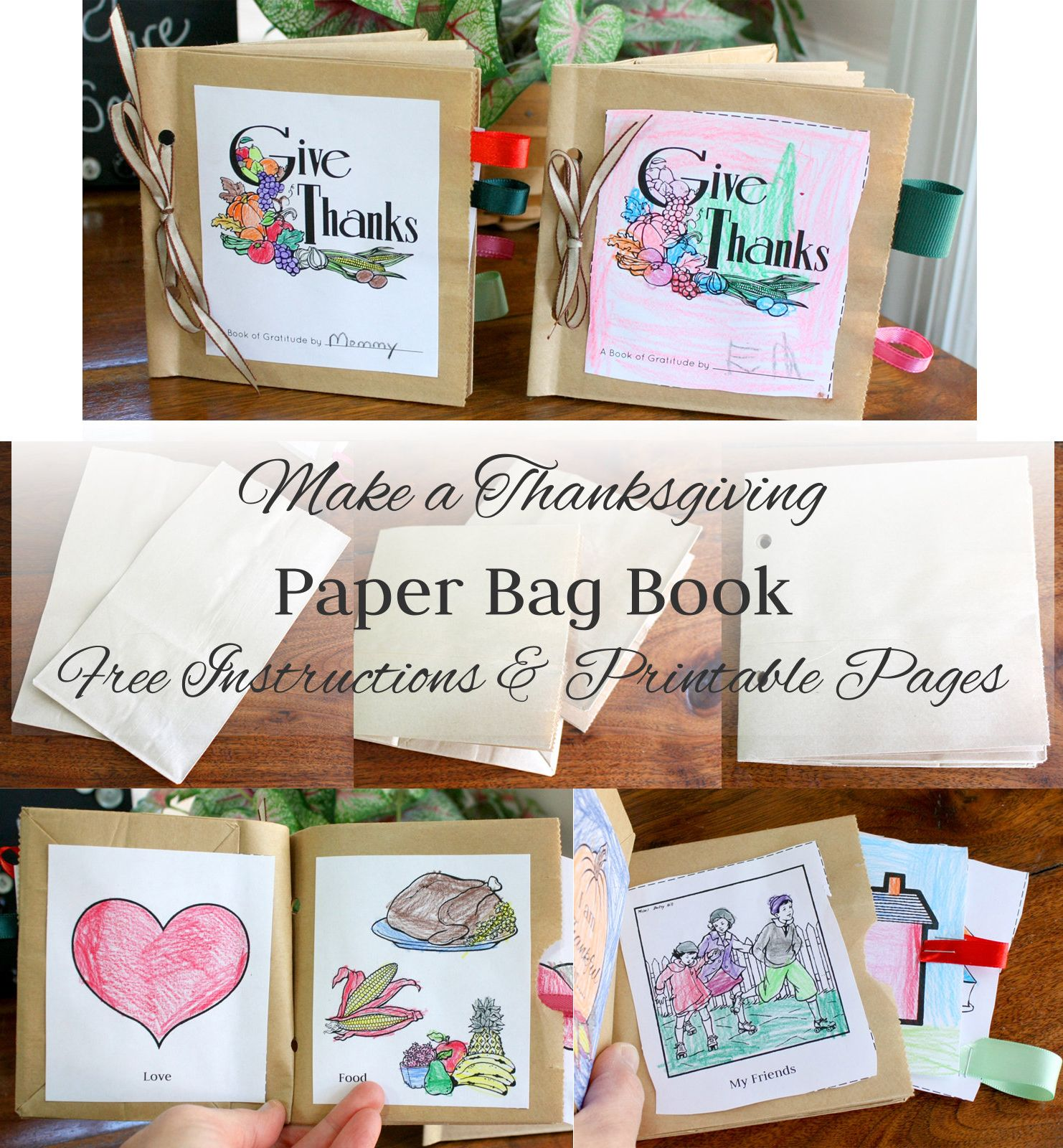 Make A Paper Bag Thanksgiving Book Instructions And Free
