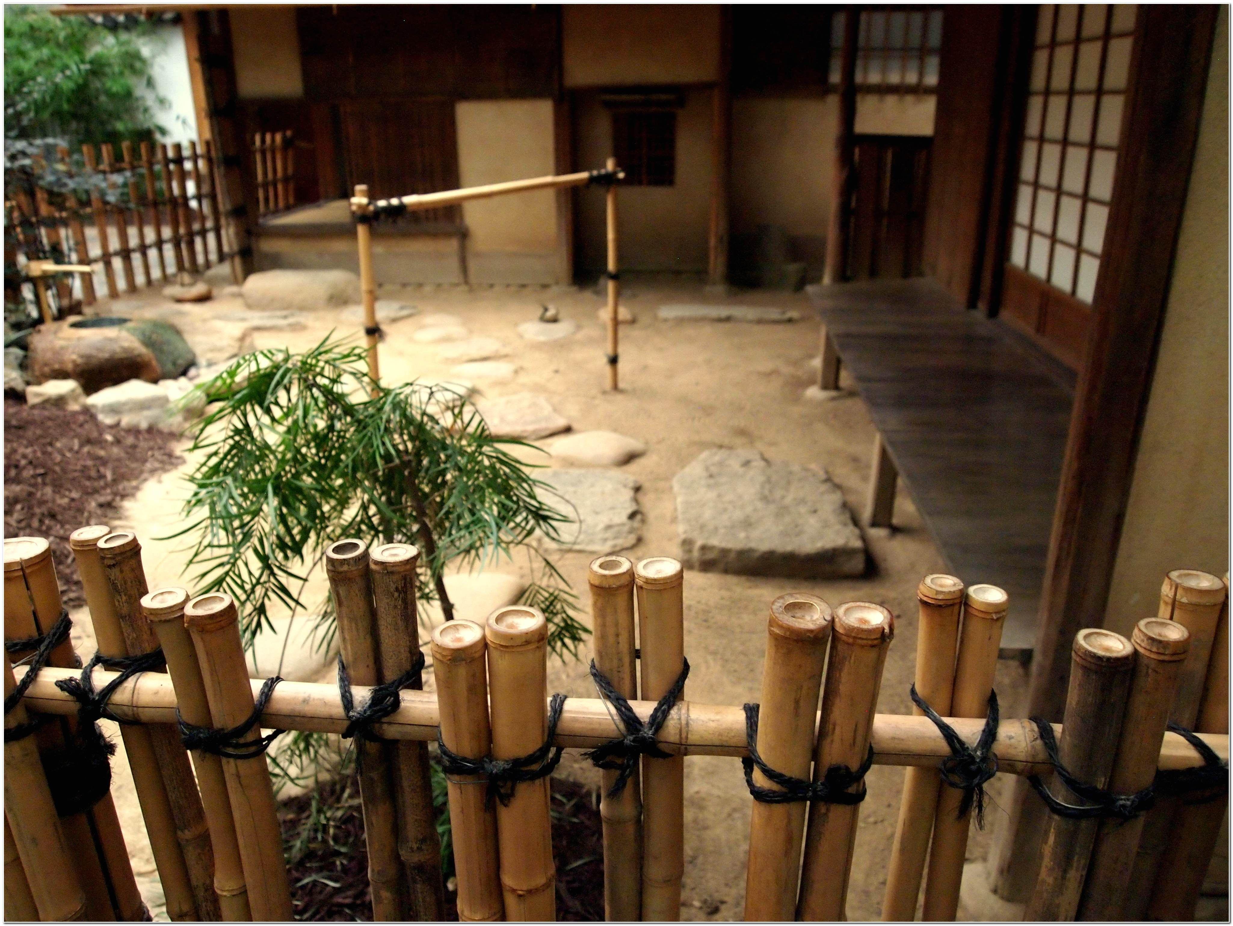 Outdoor Bamboo Fencing Ideas For Japanese Garden Diy Fence