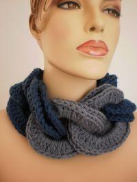 Crocheted Cowl Scarf Neck Warmer | Knit & Crochet Neckwear ...