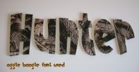 Realtree Hardwoods Camo Kids Room Wall Letters http ...