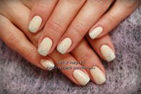 Gelish Neutral Glitter Ombre nails by www ...