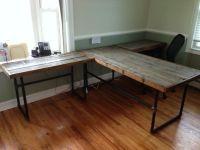 black iron pipe desk - Google Search   Wood and Pipe Desk ...