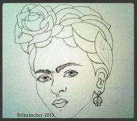 Bocetos y dibujos basados en Frida Kahlo.