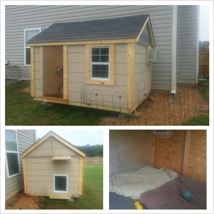 Our Custom Dog House For Our Mas S Complete With Carpet AC