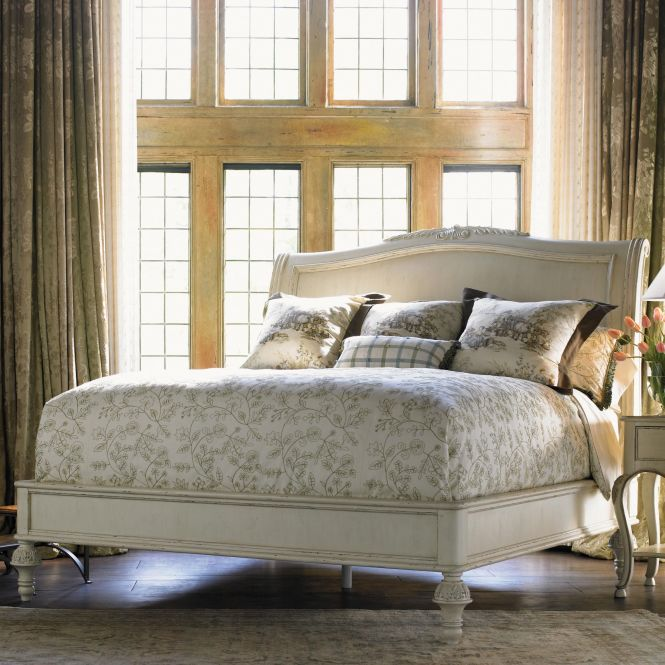 At Home In Belle Maison Queen Lit A La Traineau Bed By Drexel Heritage Belfort Furniture Sleigh Washington Dc Northern Virginia Nova Maryland