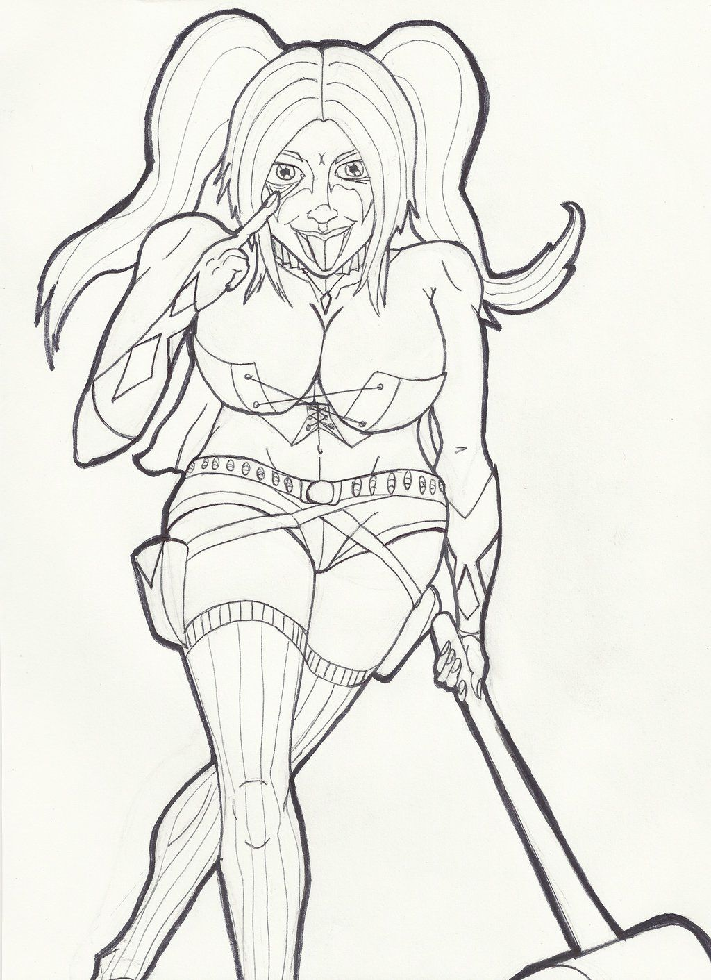 Harley Quinn Suicide Squad Coloring Pages