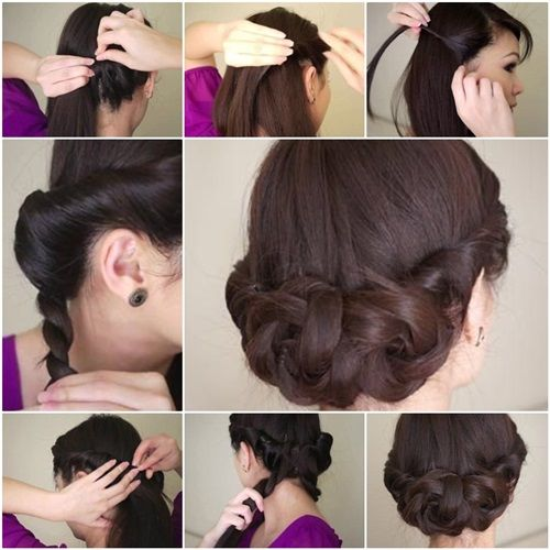 DIY Simple And Awesome Twisted Updo Hairstyle A Well Updo And