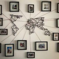 World Map Metal Wall Art | Steel, Walls and Apartments