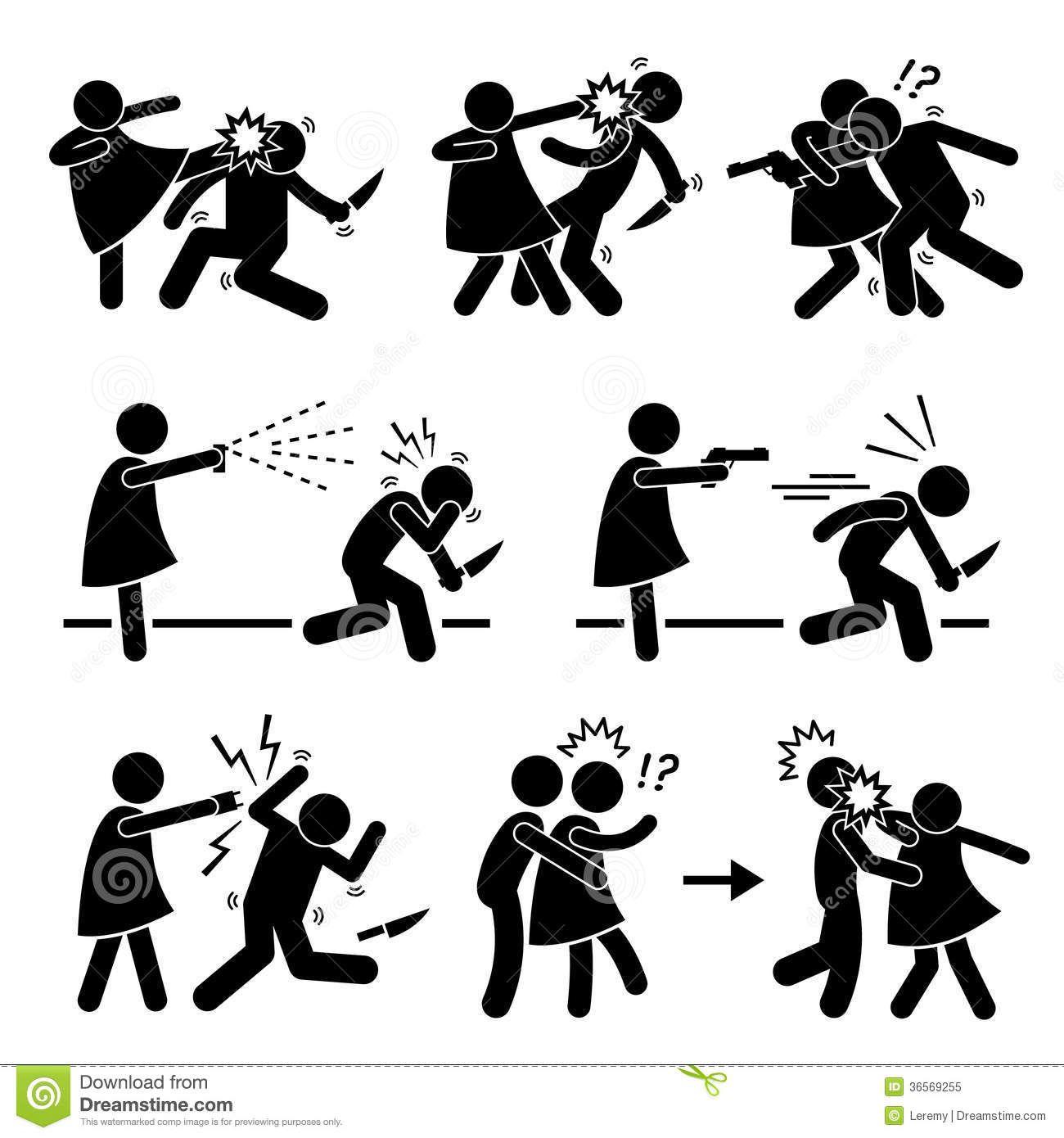 Self Defense Clip Art