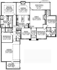 #653722 - 1 Story 4 Bedroom French Country House Plan ...