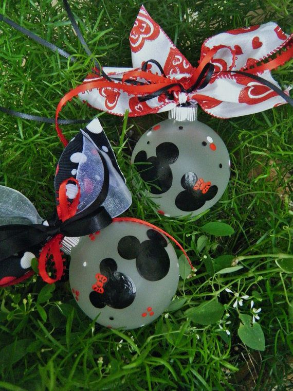 Mickey And Minnie Mouse Ornament ONE Disney Ornament