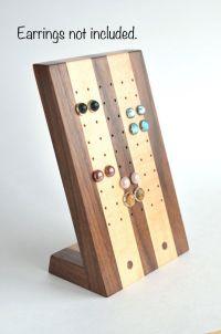 Stud earring holder, earring storage, jewelry organizer ...