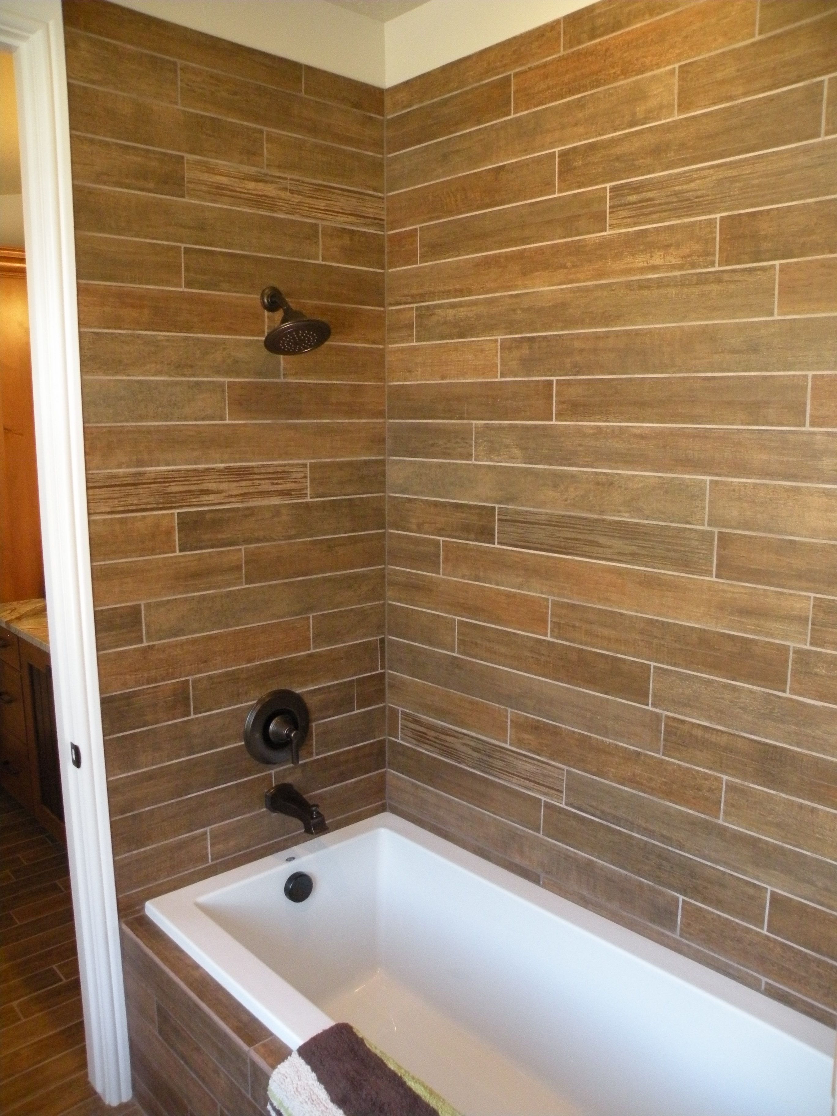 Wood Tile Bathroom Old World Stone Imports Wood Look Tile Spa Shower Www