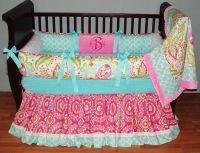 Braelyn Baby Bedding This custom 3 pc baby crib bedding ...
