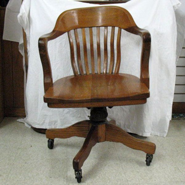 old solid wood swivel desk chair  desk chairs 26