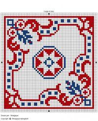 biscornu chart 3 color ways | Free charts Patriotic USA ...