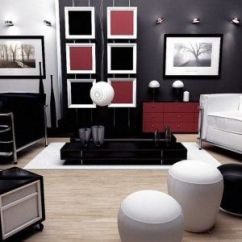 Red And Black Living Room Theme Neutral Colors Ideas White Http Janekennedy Info