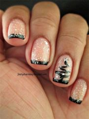 christmas gel nails