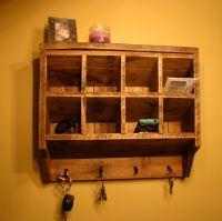 Key Rack Holder Wall Organizer Reclaimed wood.