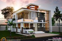 sq ft nice contemporary house kerala home design floor sq ...