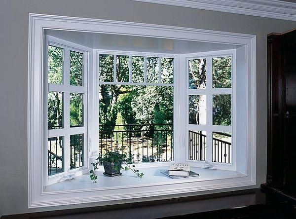Here's A Beautiful Bow Window Idea The Oversized Grids In The