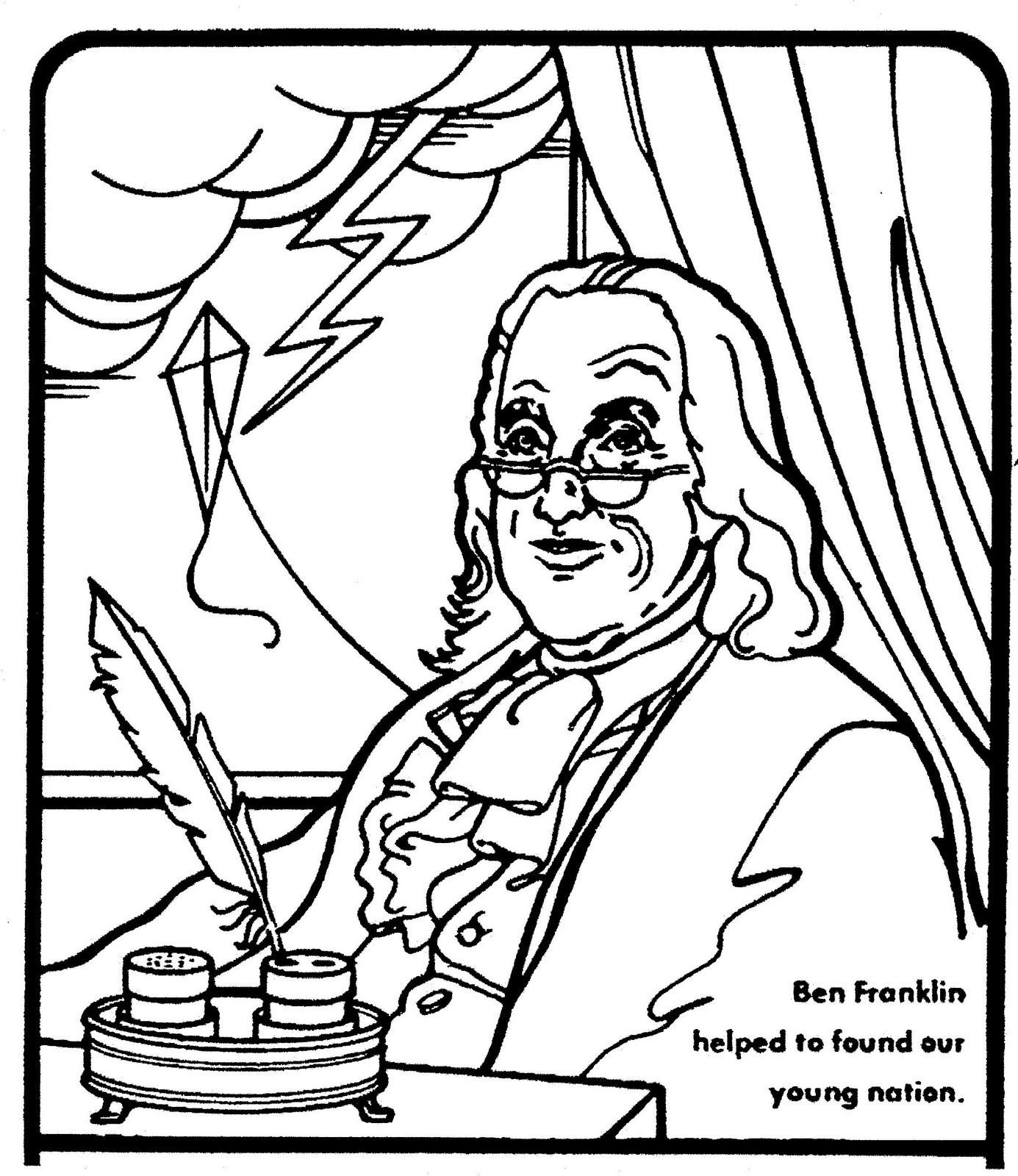 How do i write an outline on Ben Franklin's kite