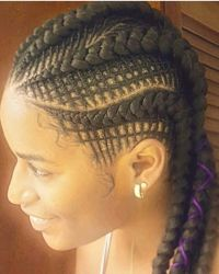 Creative feed in braids... | Natural Hair Style Braids ...