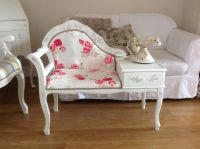 Telephone table painted shabby chic french style but with ...