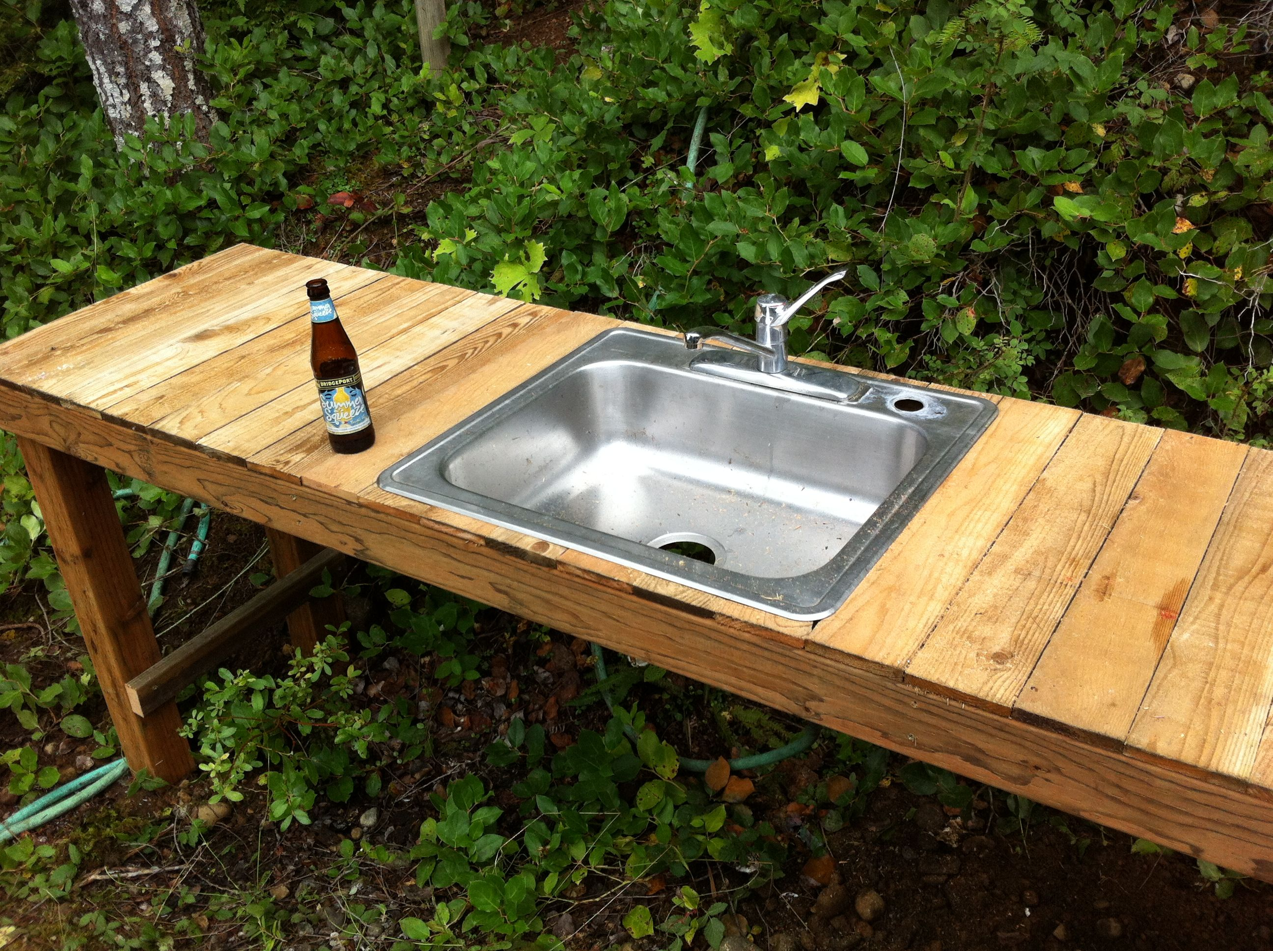 outdoor kitchen sinks pictures of remodeled kitchens maine another shot the filter bucket