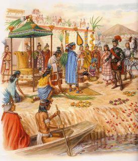 Resultado de imagen para atahualpa y los españoles