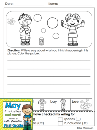 Spring Printables - First Grade (writing prompt) | Spring ...