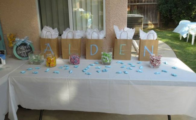 Gifts For Baby Shower Game Winners With Candy Scattered