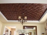 3D embossed Faux Tin glue up ceiling tile