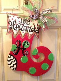 Homemade Christmas Door Hanger Decoration Ideas ...