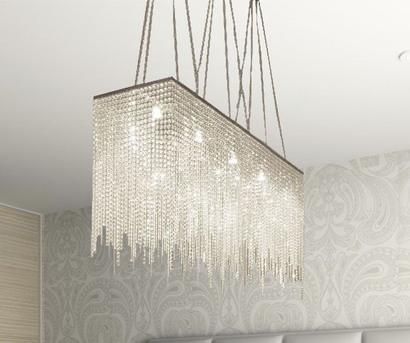 G902 1114 Gallery Modern Contemporary Chandelier Rain Drop Crystal Chandeliers Lighting