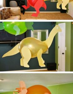 Ballons ang paper is all you need to make home decor for kids party art inspiration handmade dinosaur  also rh pinterest