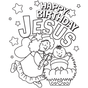 Christmas coloring pages-secular and a GREAT Happy