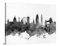 City Wall Art - Art Print, Watercolor London Canvas Print ...