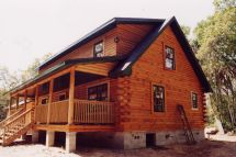 Log Cabins with Shed Dormer Roofs