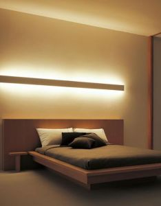 Lamps simple lighting bedroom wooden platform bed with lights led headboard cool ideas   brown scheme ceiling also  media cache ak pinimg   rh pinterest