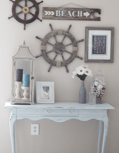 diy home decorating ideas windy beach inspired also  like the rustic look but this is cute for  house rh pinterest