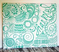 Hand Lettering Painted Canvas Wall Art Doodle Free Hand ...