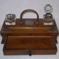 Vintage Antique writing station- Pen and Ink station from ...