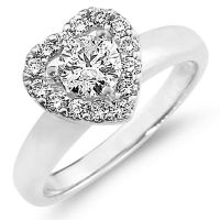 Heart shaped diamond rings, diamond promise rings, diamond