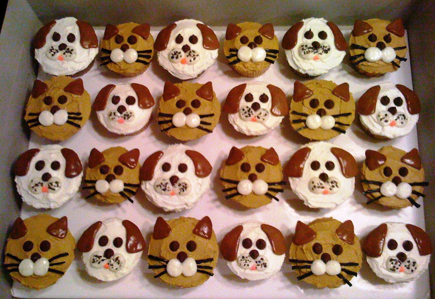 Dog And Cat Cupcakes For Kids
