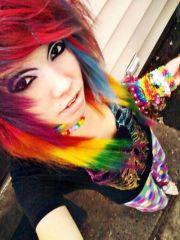 love rainbow hair
