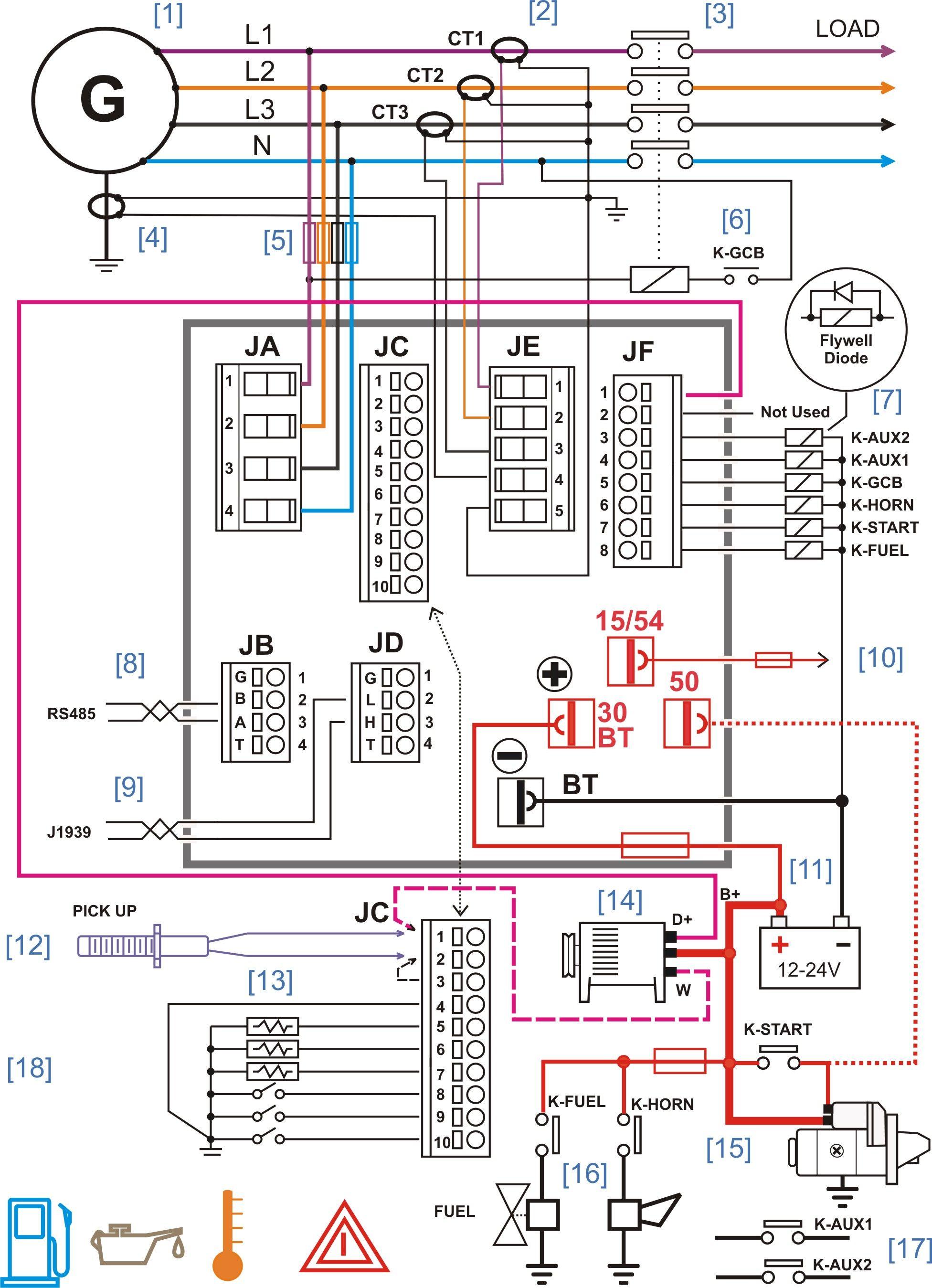 Diesel Generator Control Panel Wiring Diagram Gr Pinterest