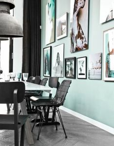 Green walls also image via desire to inspire dream home pinterest gallery wall rh
