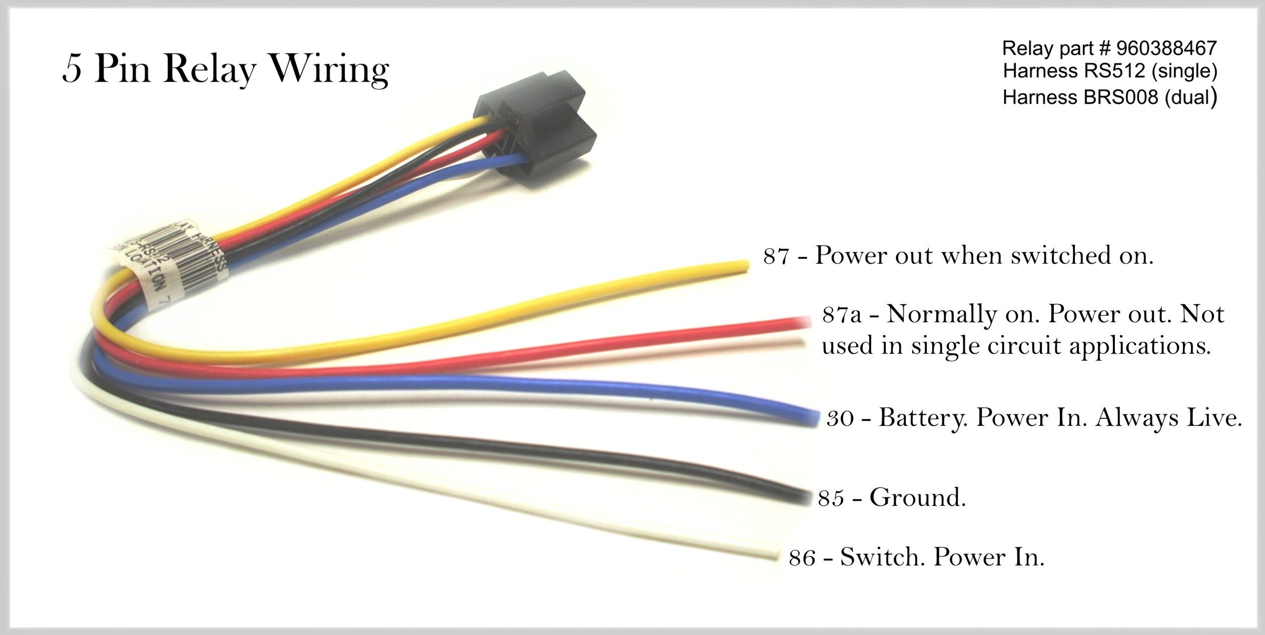 5 Pin 12v Relay Wiring Diagram